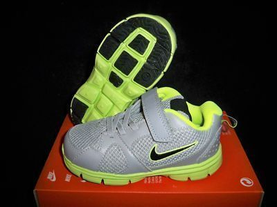 NIKE ENDURANCE TRAINER GREY/GREEN BOYS/GIRLS BABY/TODDLER SHOES SIZE 2 on