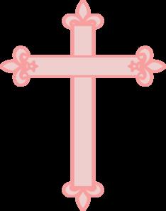 Fleur De Lis Cross Pink Clip Art Clip Art Art Online Art
