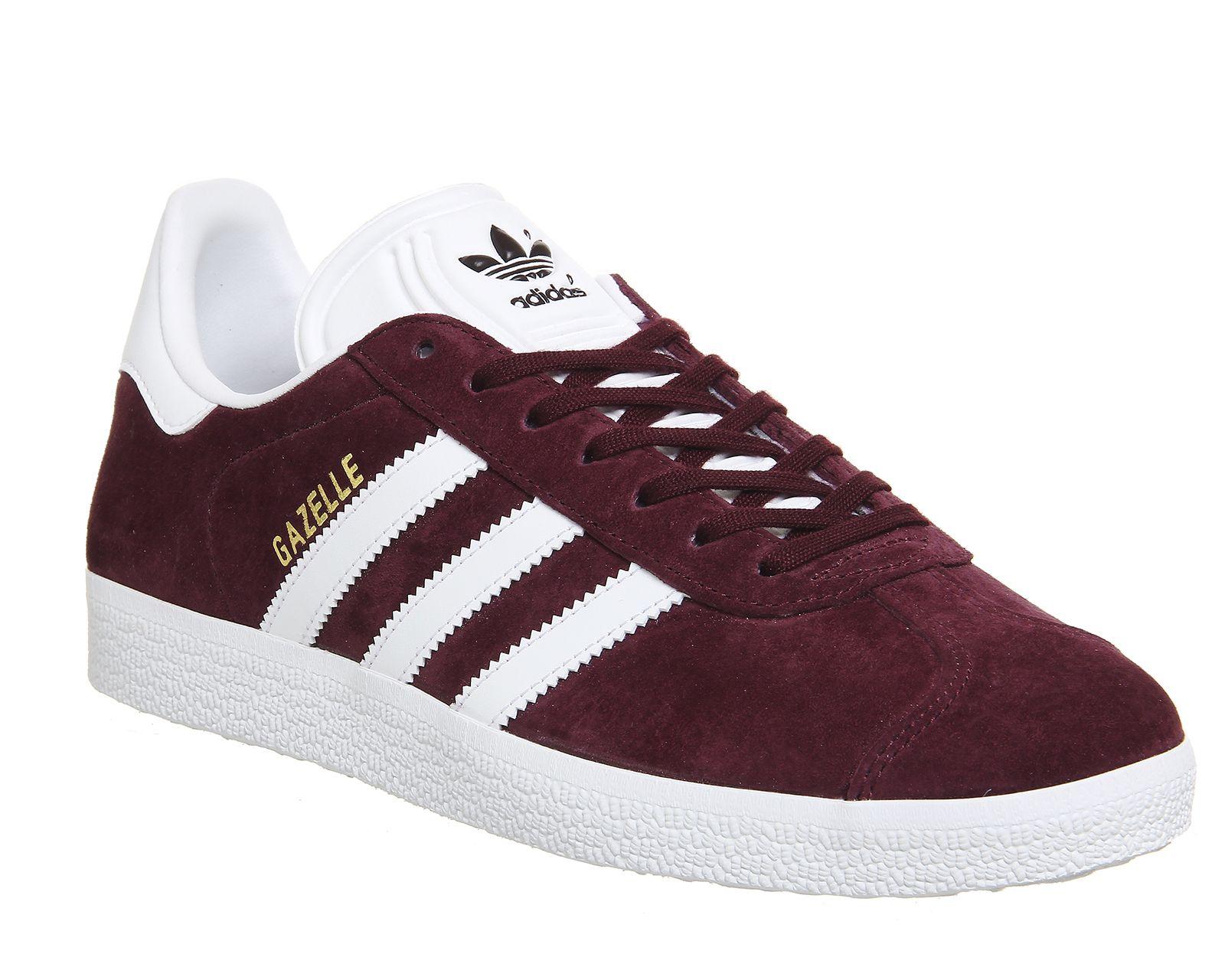 Gazelle Trainers   Adidas gazelle, Burgundy sneakers, Metallic ...