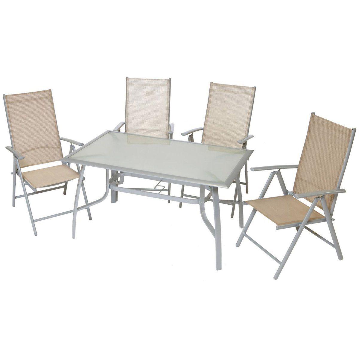 Gartenmöbel-Set Amalfi 5-tlg. Champagner Jetzt bestellen unter ...