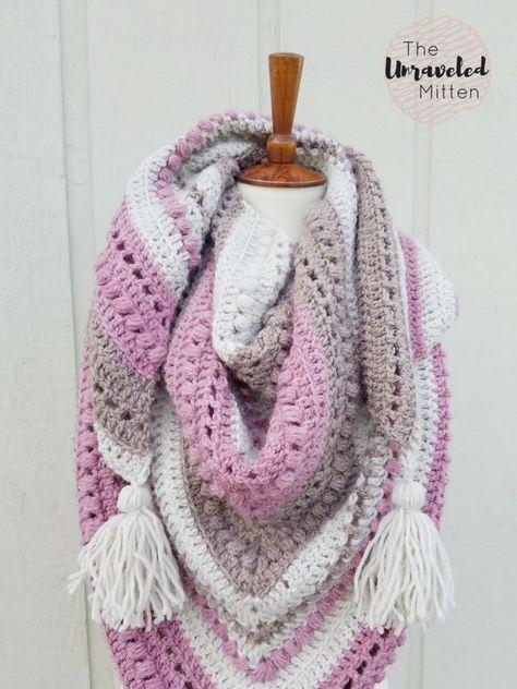 What You Love Shawl Free Crochet Pattern | Lenços, echarpes e tudo ...