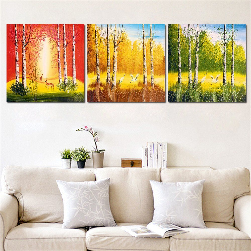 colorful landscape painting printed on canvas animal in forest canvas painting home decor wall art oil - Home Decor Paintings