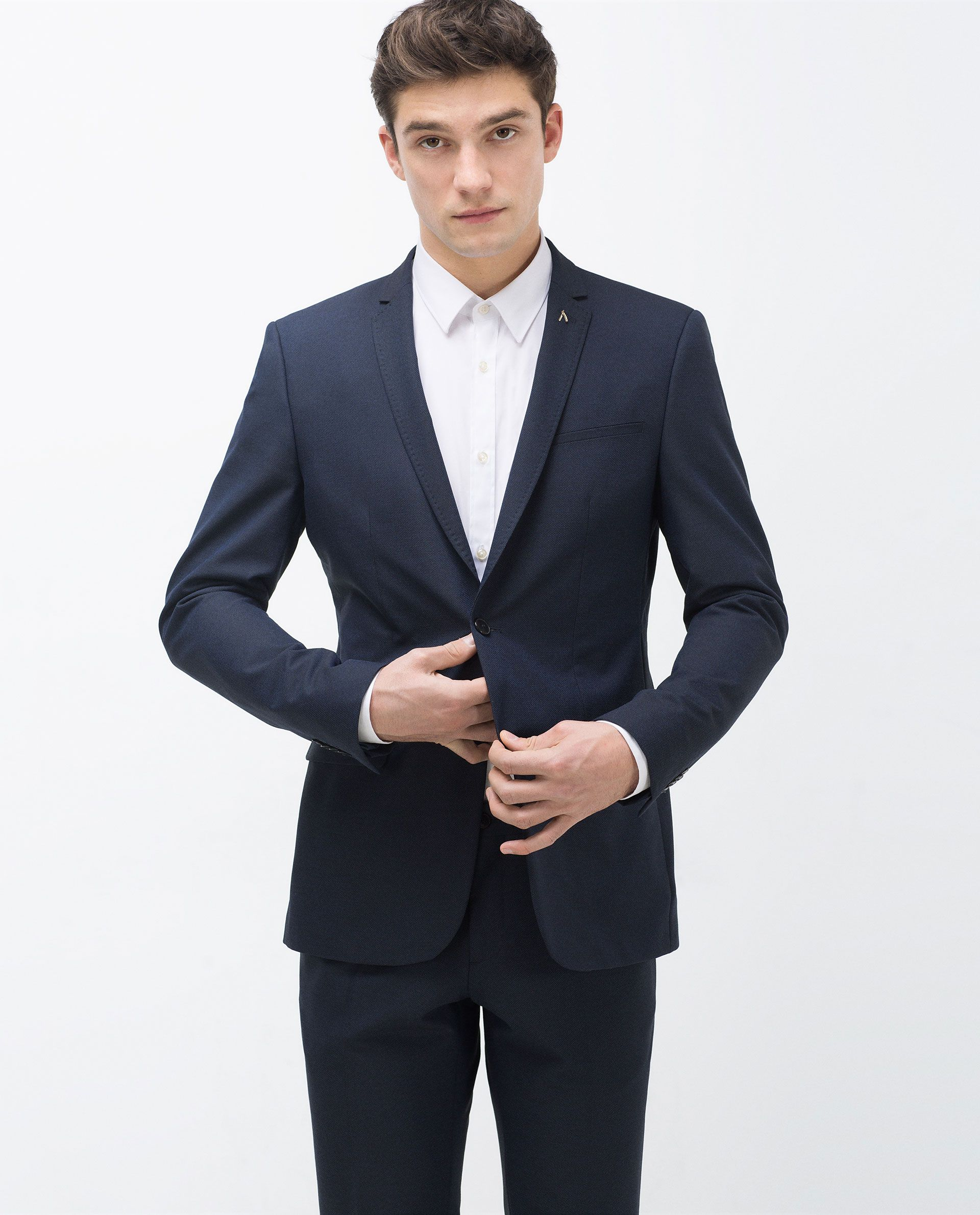 6e45791edf5 Navy suit from Zara | Wedding party outfit | Suits, Mens suits, Suit ...