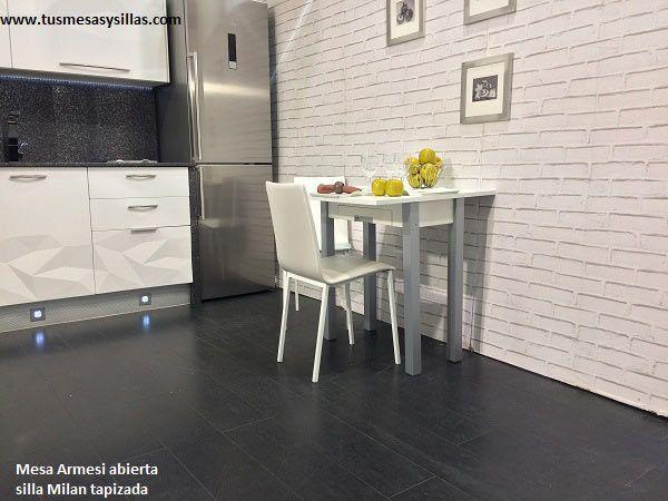 mesa para cocinas estrechas y alargadas modelo Armesi de Mesinor en ...