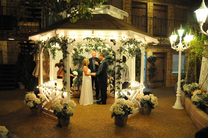 Viva Las Vegas Wedding Chapels We Got Married In This Outdoor Chapel Gazebo Wedding Las Vegas Wedding Chapel Las Vegas Wedding Photos
