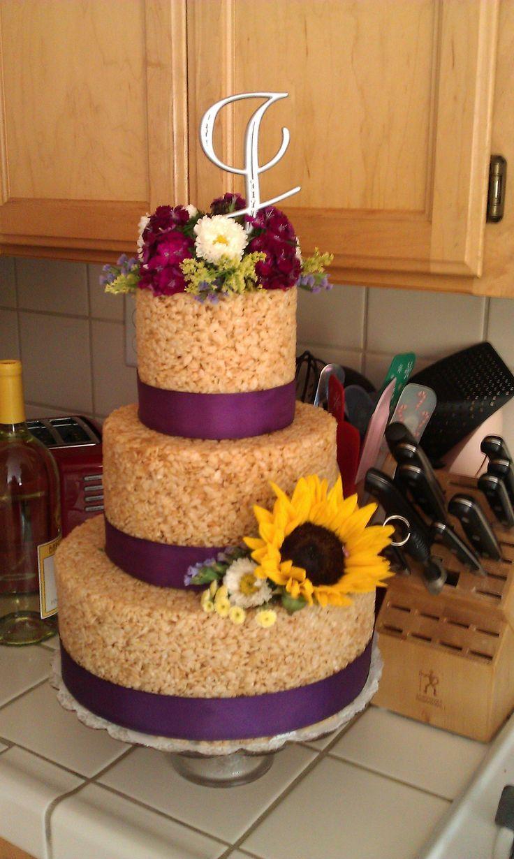 How to make rice krispie treat wedding cake wedding cake