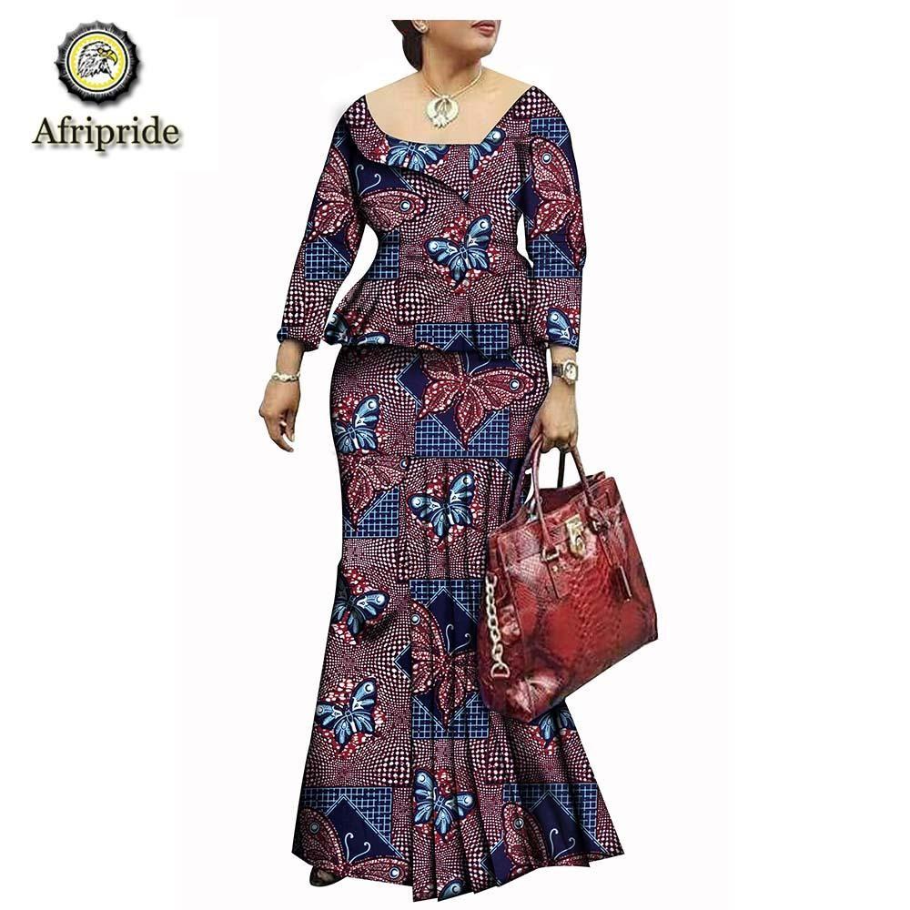 428c81202cc 2019 african dresses for women AFRIPRIDE bazin riche ankara print dashiki  pure cotton dress wax batik private custom S1825074