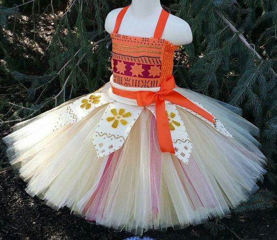 Girls Birthday  outfit Halloween Costume Girls Moana Birthday tutu dress set