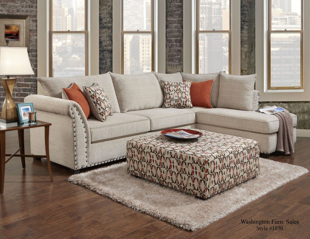 1850 Patton Beige Sectional By Washington Furniture. Get Your 1850 Patton  Beige Sectional At Railway Freight Furniture, Albany GA Furniture Store.