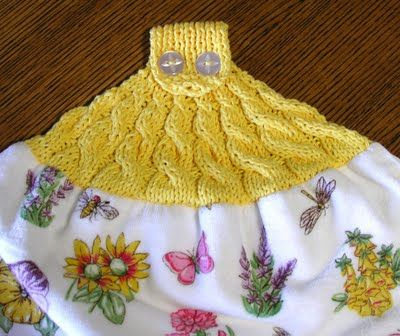For Your Autumn Kitchen Knit And Crochet Towel Toppers Free