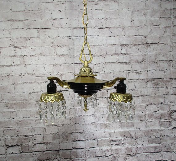 Antique Vintage Chandelier Pan Fixture French by LampDoctor32