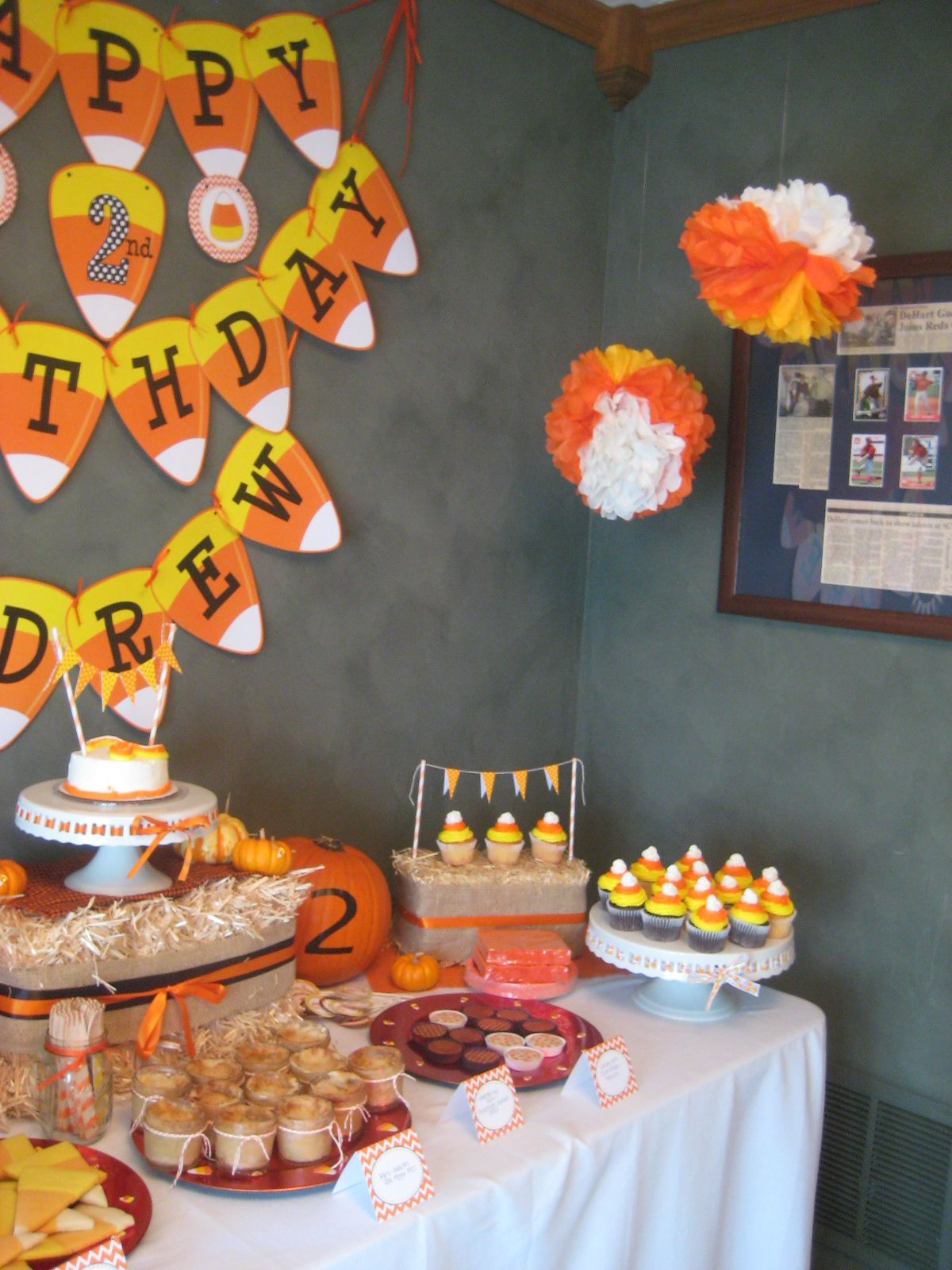 Candy corn birthday party fall birthday parties