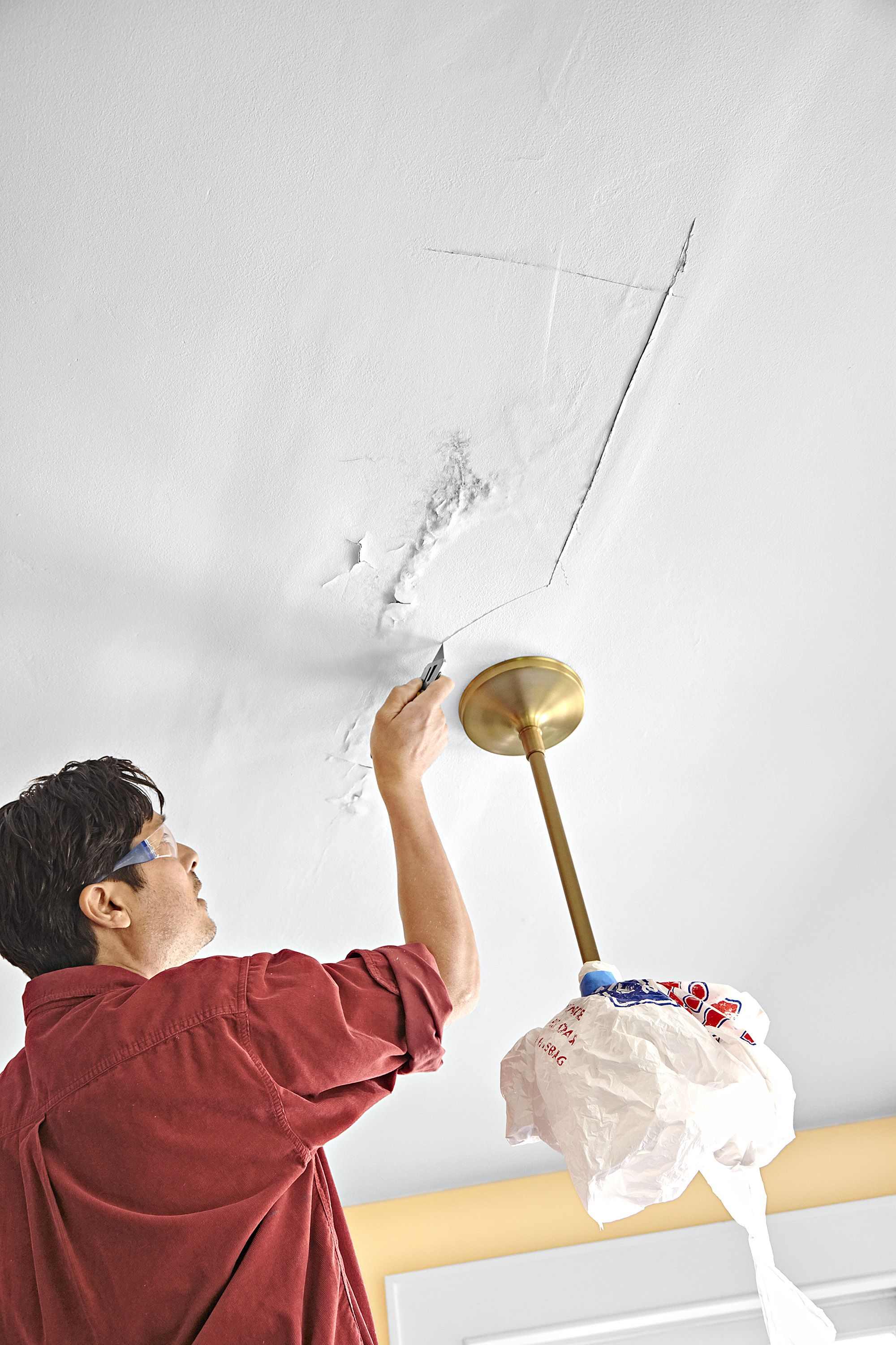 How to Patch a Ceiling Plaster ceiling repair, Repair