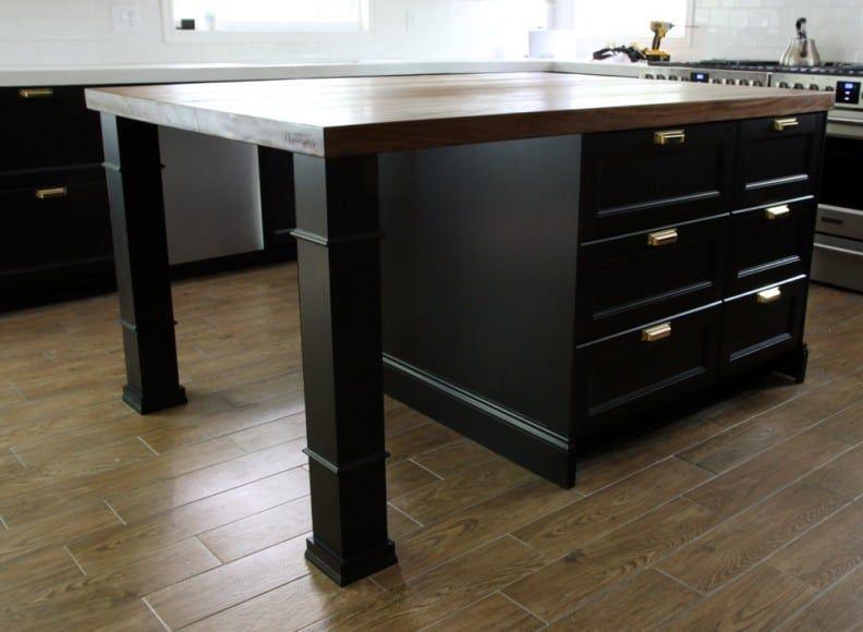 Customizing Our Ikea Kitchen Island Ikea Kitchen Island Kitchen Island With Seating Ikea Kitchen Design Diy