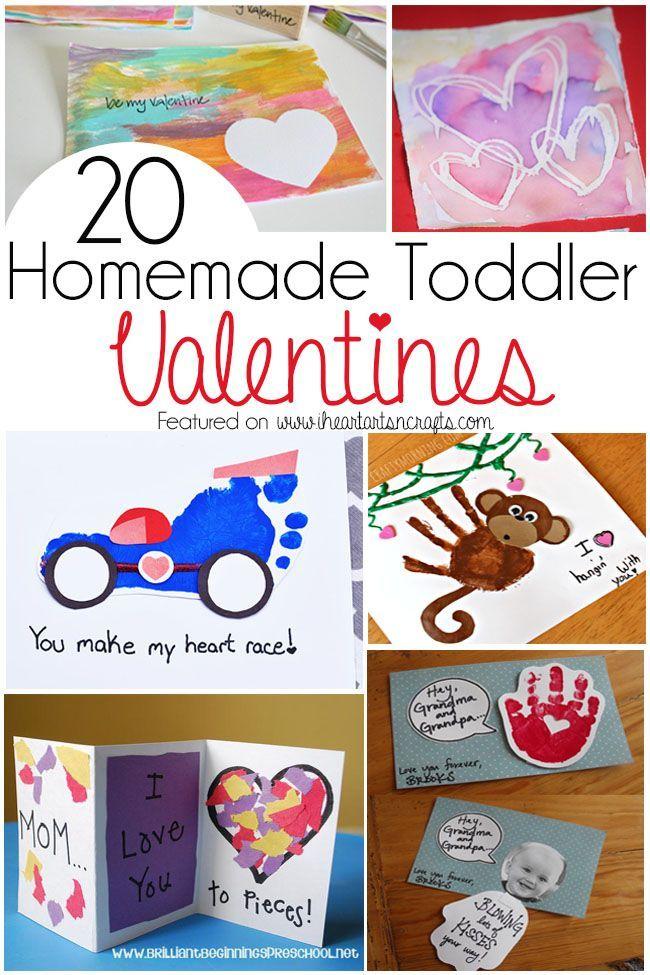 20 Homemade Toddler Valentines Homemade Valentines Valentines