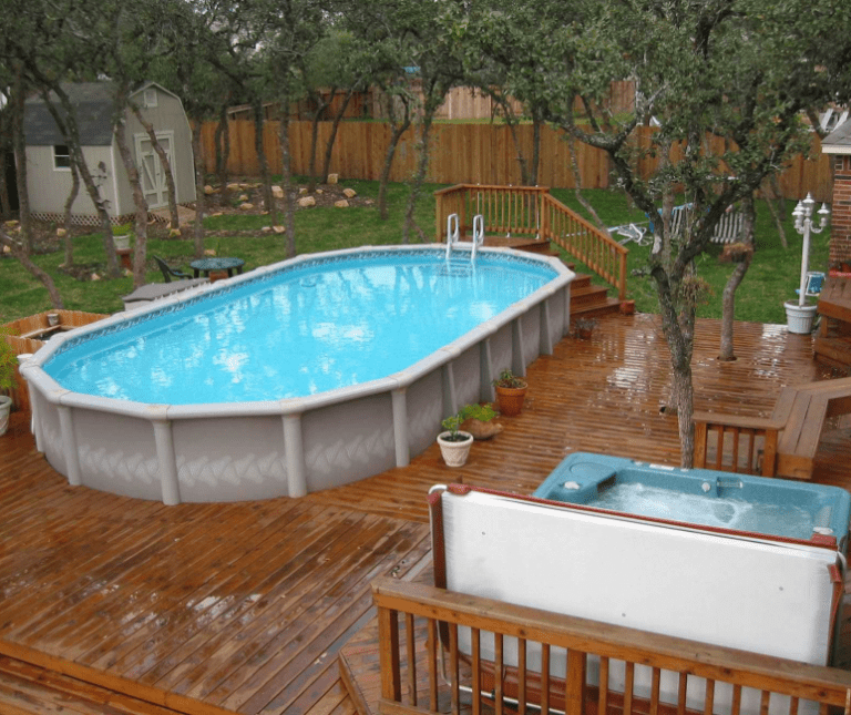 27 Awesome Sun Deck Designs: 11+ Most Popular Above Ground Pools With Decks (Awesome