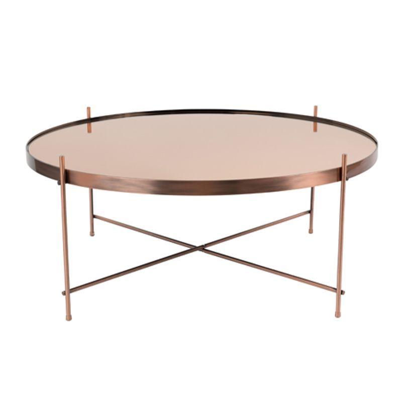 Table Basse Ronde En Metal Cuivre Cupid Zuiver Gm Table Basse Table Basse Design Table Basse Metal