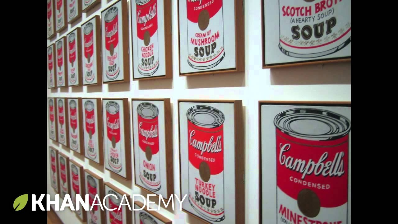 Why Is This Art Andy Warhol Campbell S Soup Cans Art History Khan Art Lessons Homeschool Art Art Lesson Video
