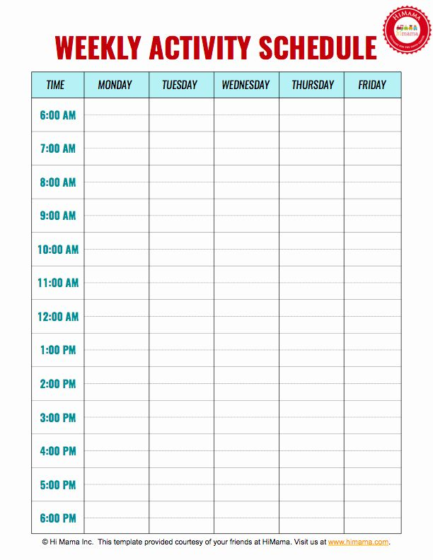 Photo of Daily Routine Schedule Template