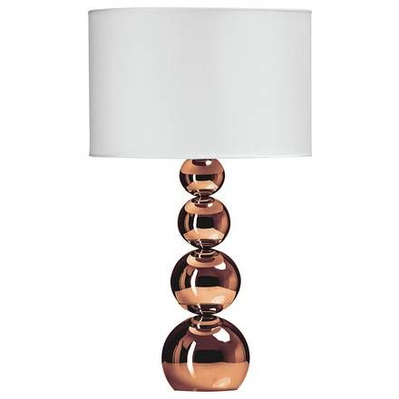buy jaden ceramic copper table lamp ivory table lamps argos