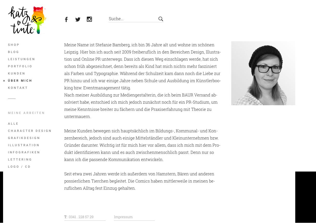 Uber Mich Seite Katz Und Tinte Katz Und Tinte Lettering Grafik Design