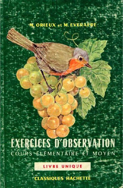 Manuels Anciens Orieux Everaere Exercices D Observation