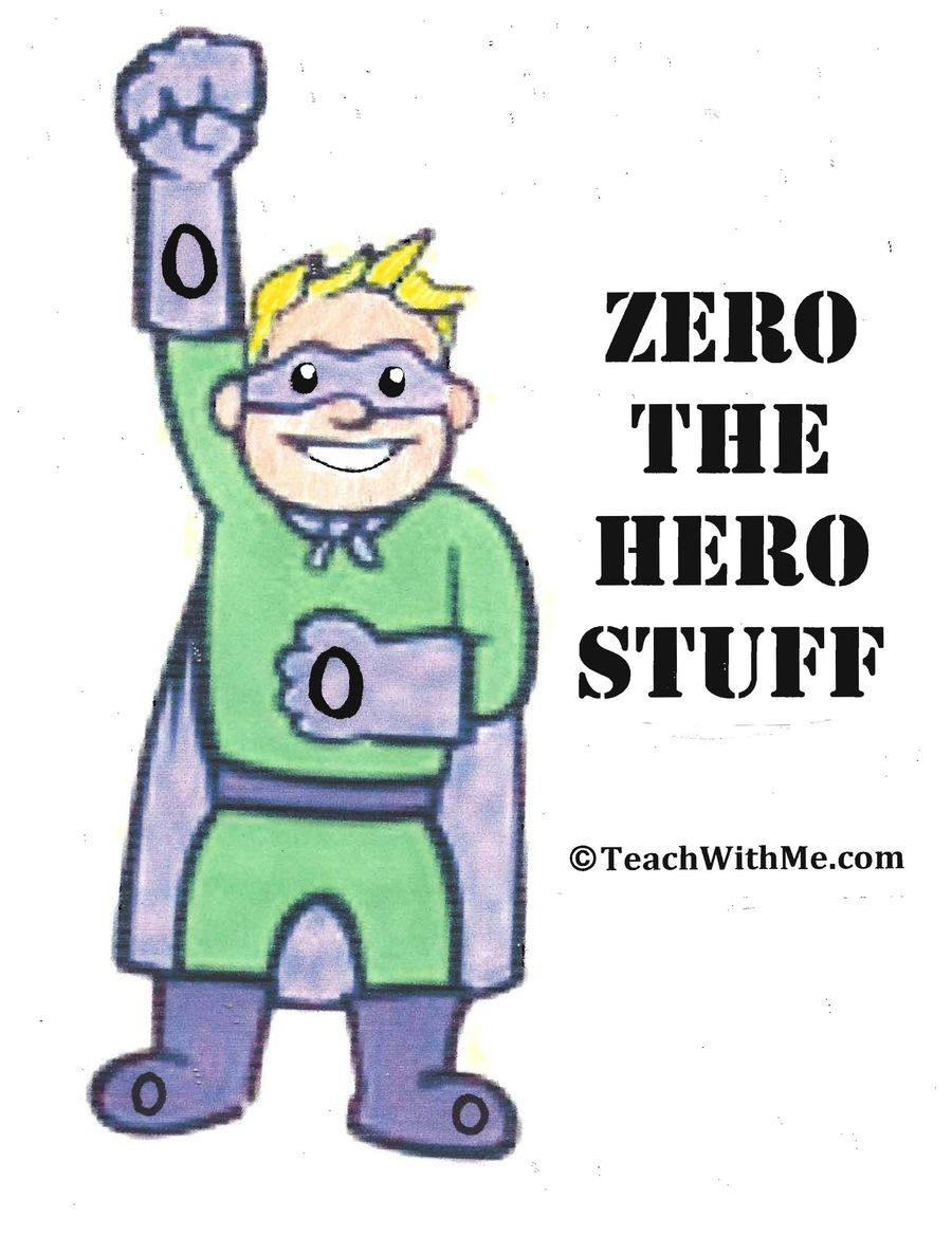 days with zero the hero stuff math pinterest hero school
