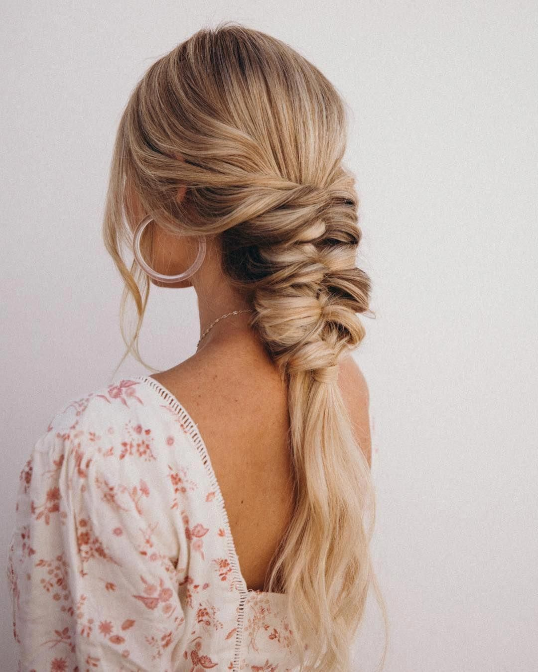 This Tutorial Is All About The Topsy Tail All You Do Is Gather Two Sections Elastic And Then Flip T Cool Braid Hairstyles Braided Hairstyles Long Hair Styles