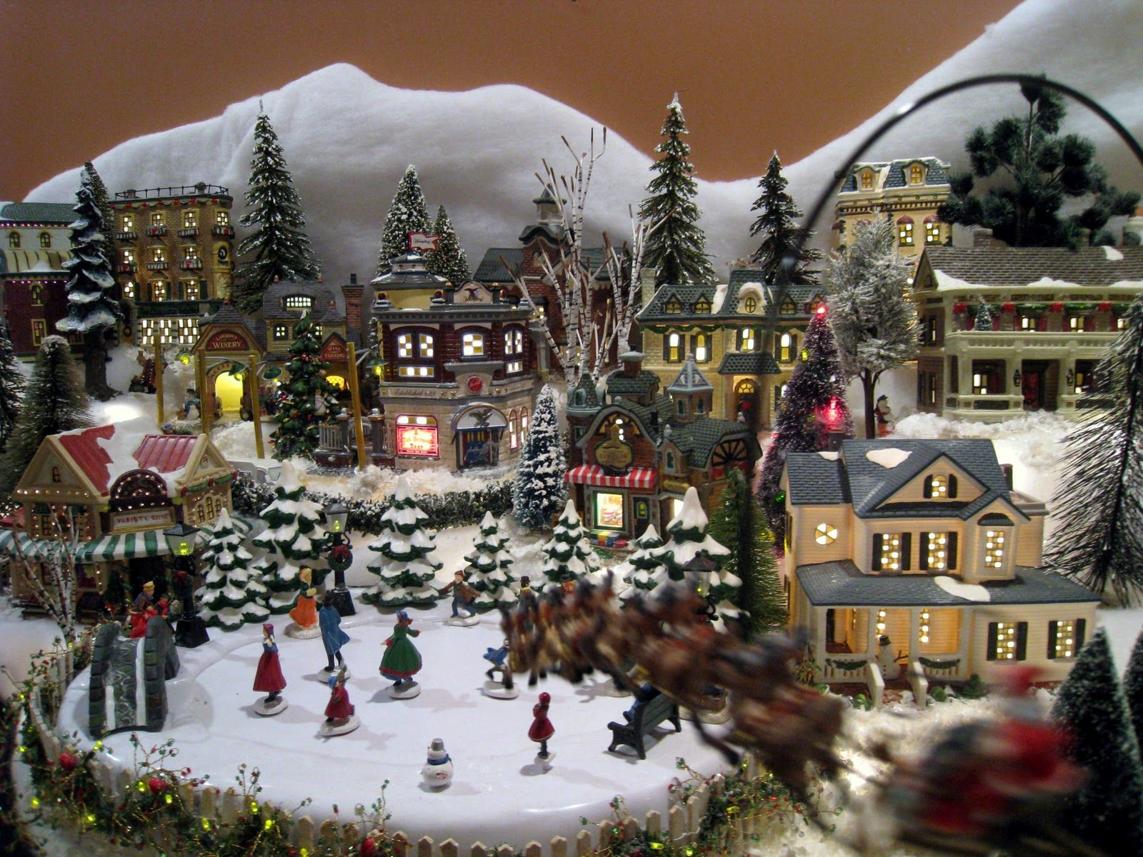 christmasvillageideas can you believe your eyes its santa and his reindeer flying in from