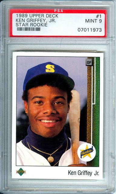 Ken Griffey Jr 1989 Upper Deck Rookie Card Angels
