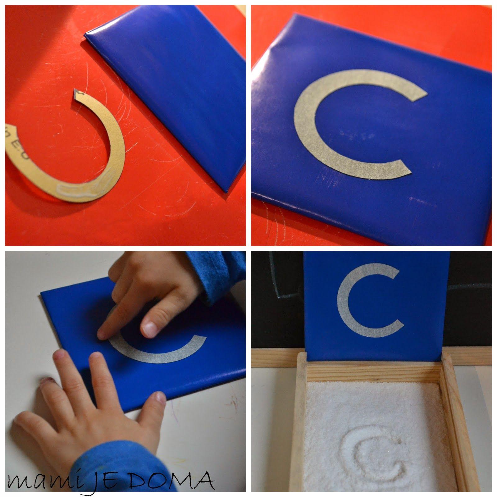 Mami je doma DIY Sandpaper letters / Peščene črke