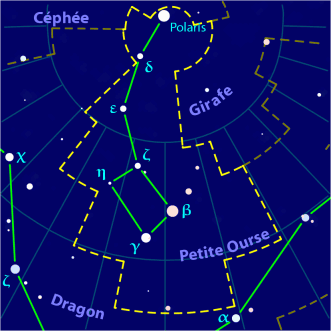 Petite Ourse Wikipedia Petite Ourse Carte Constellation Constellations