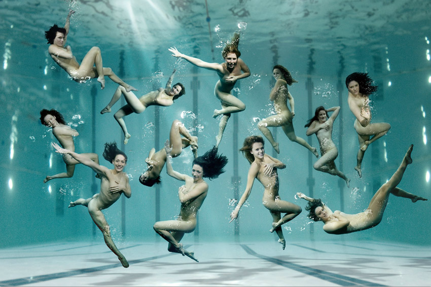 A Dozen Of Olympic Hopefuls From The British Water Team Including Swimmers,  Divers, Water Polo Players And Synchronised Swimmers Have Got Together To  Pose ...
