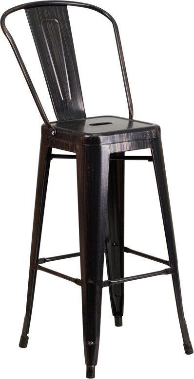 Flash Furniture CH 31320 30GB BQ GG 30u0027u0027 High Black
