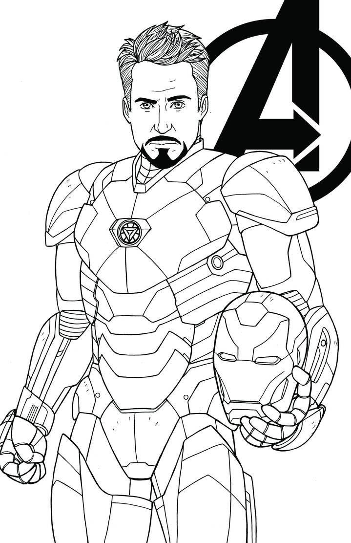 Tony Stark Robert Downey Jr By Jamiefayx Superhero Coloring Pages Marvel Coloring Superhero Coloring