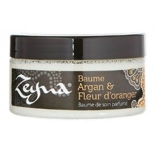 <3 Baume Argan & Fleur d'oranger INCI : Shae butter, Arguan oil, Sesame oil, parfum, citronellol, geraniol, limonene, linalool.