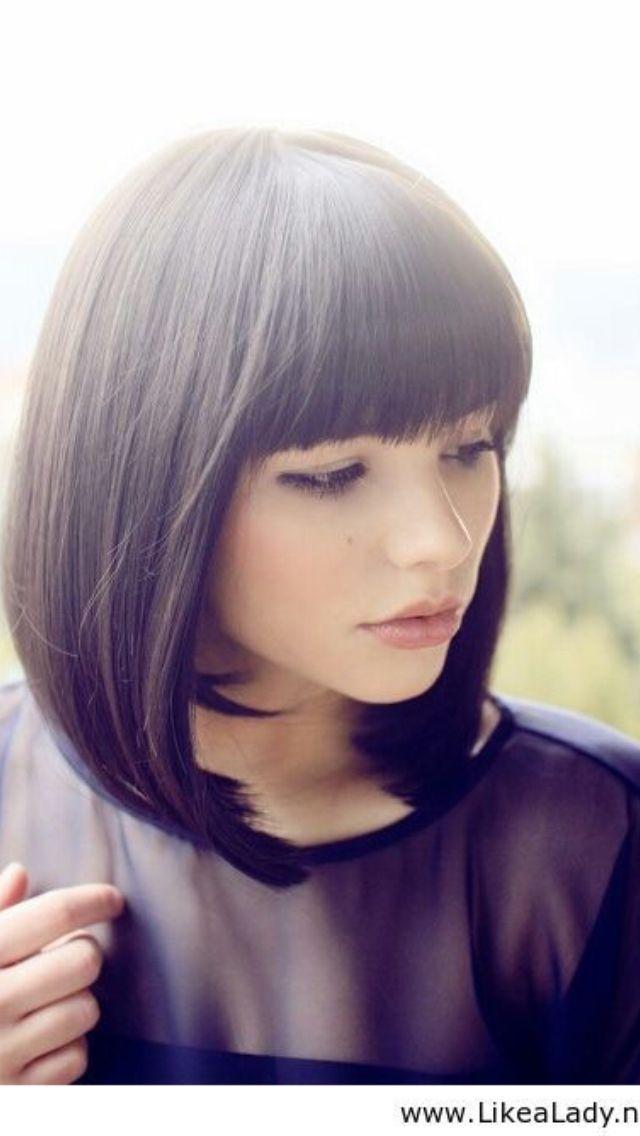 Bob Short Hair With Bangs Cute Haircut Korean Hairstyle Hair Styles Short Hair Styles Short Hair With Bangs