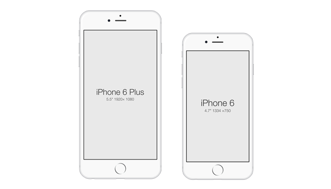 This Freebie Is A Free Vector Mockups Of The New IPhone 6 And Plus