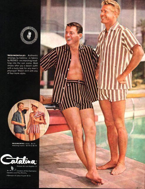 17ba21df47 1957 Catalina men's Swim suit Beach outfits by catchingcanaries, $9.00