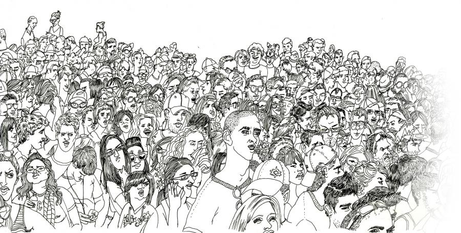 много людей картинки карандашом все