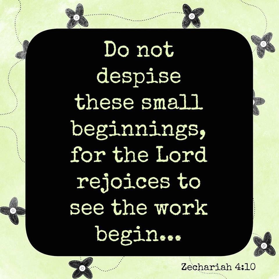 Pin on Small Beginnings