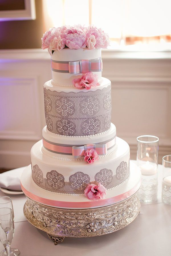 Mariage Gris Et Rose | Mariage, Wedding And Wedding Cake