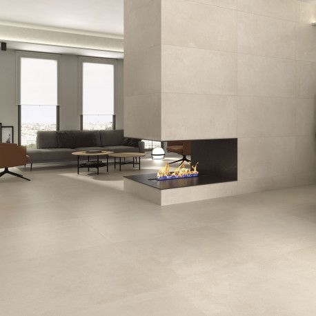 Carrelage Sol Et Mur Aspect Beton Beige Public Bone 60x60 Cm