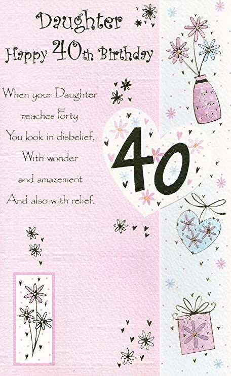 Image Result For Daughter 40th Birthday