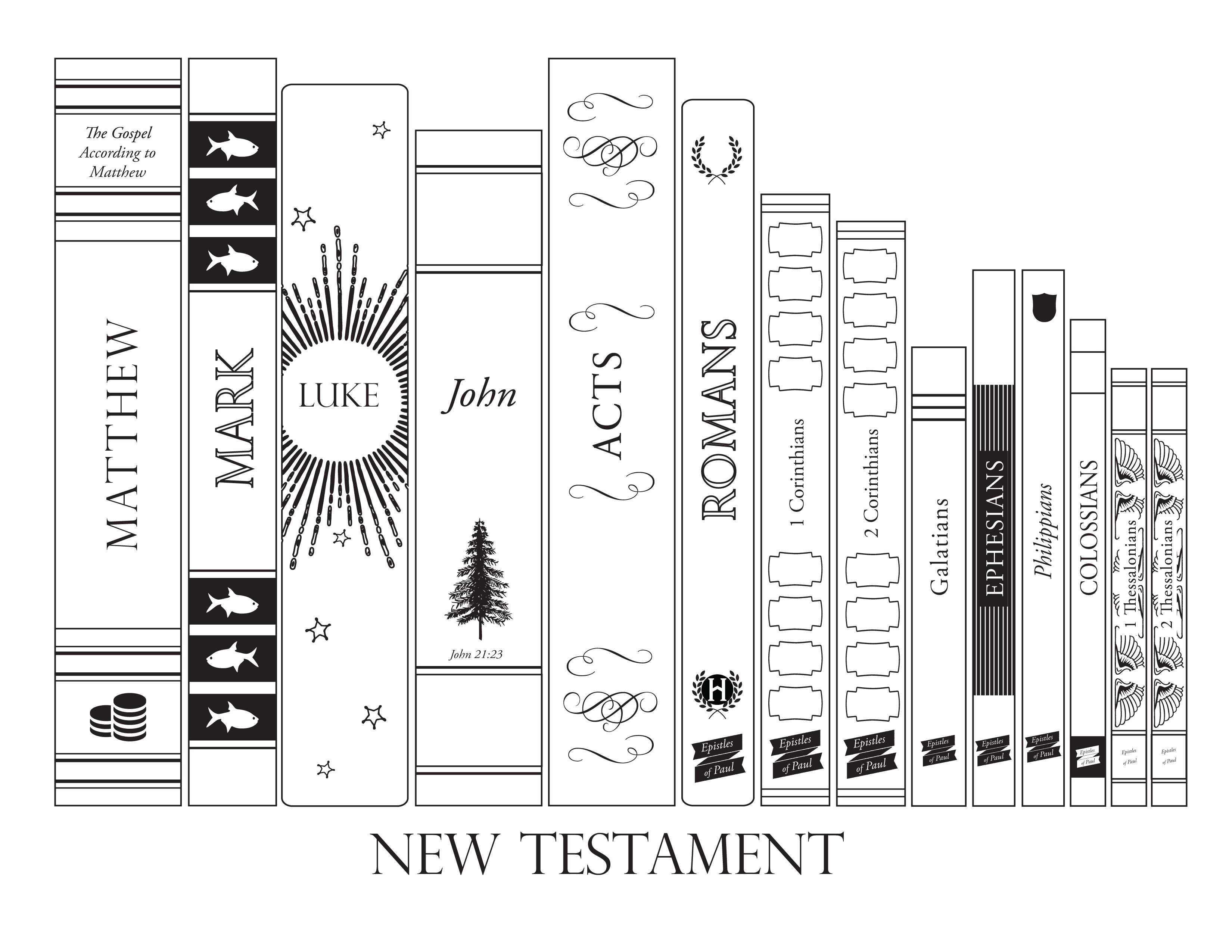 Printables New Testament Bible Coloring Pages New Testament Books