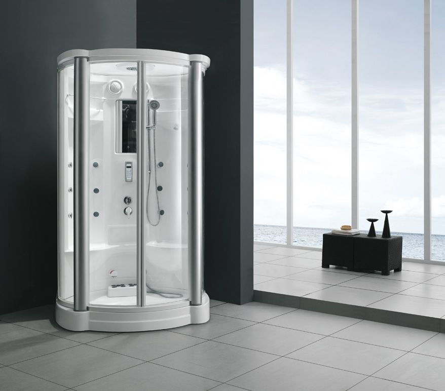 Monalisa M-8236 sliding tempered glass steam room with shower and ...