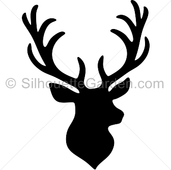 Stag head silhouette clip art. Download free versions of the image ...
