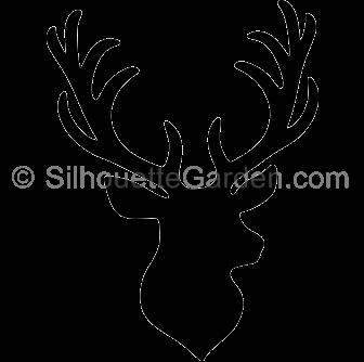 Stag Head Silhouette Deer Silhouette Animal Silhouette Deer Head Silhouette