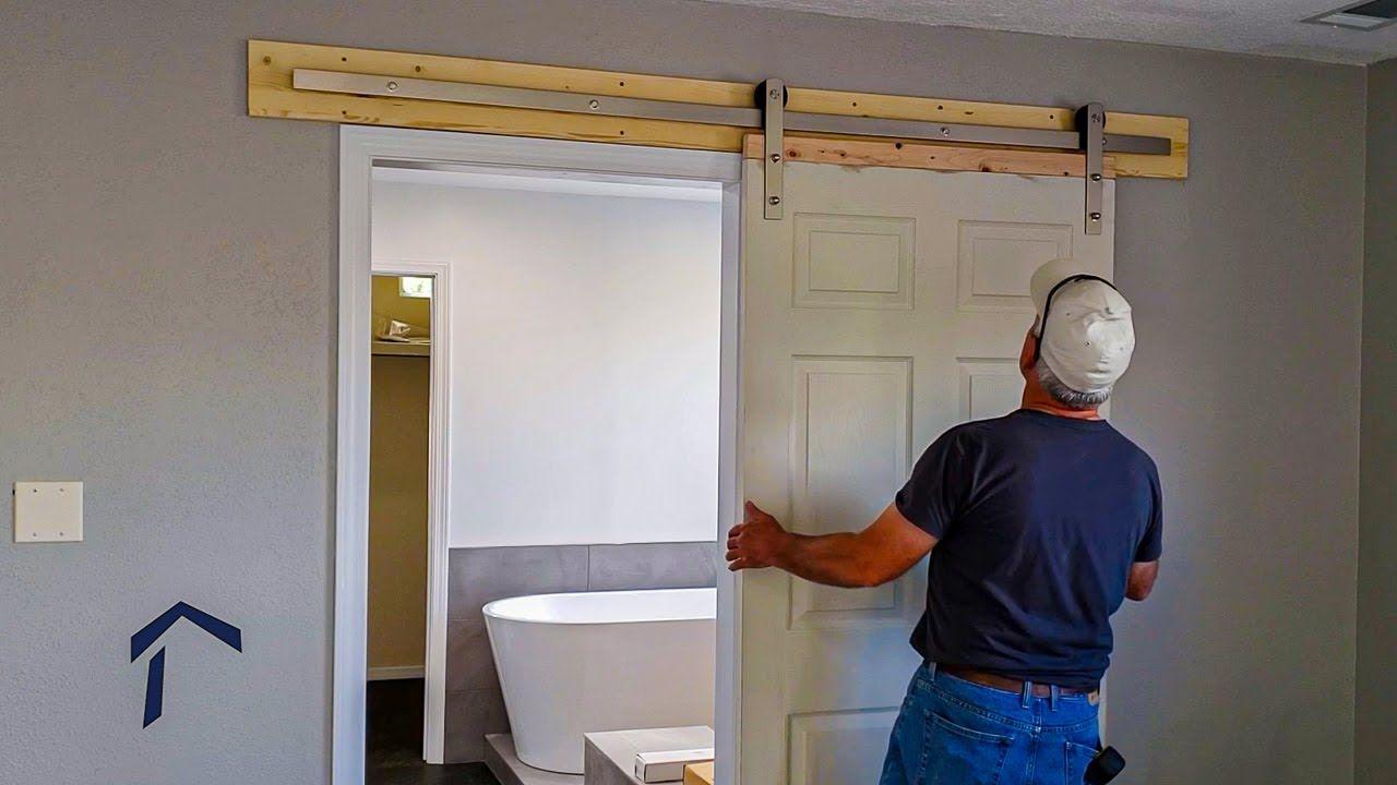 Installing a Barn Door on a Master Bathroom YouTube in