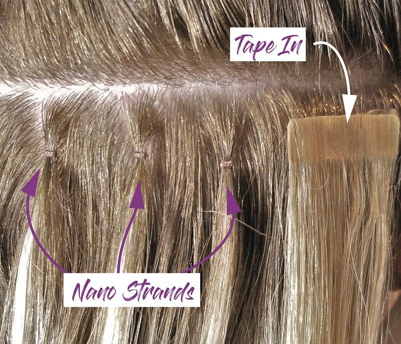 Nano tape extensions